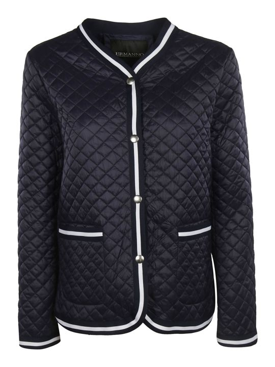 Ermanno Scervino Quilted Effect Buttoned Jacket