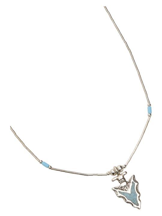 Jessie Western Silver Arrow Power Necklace