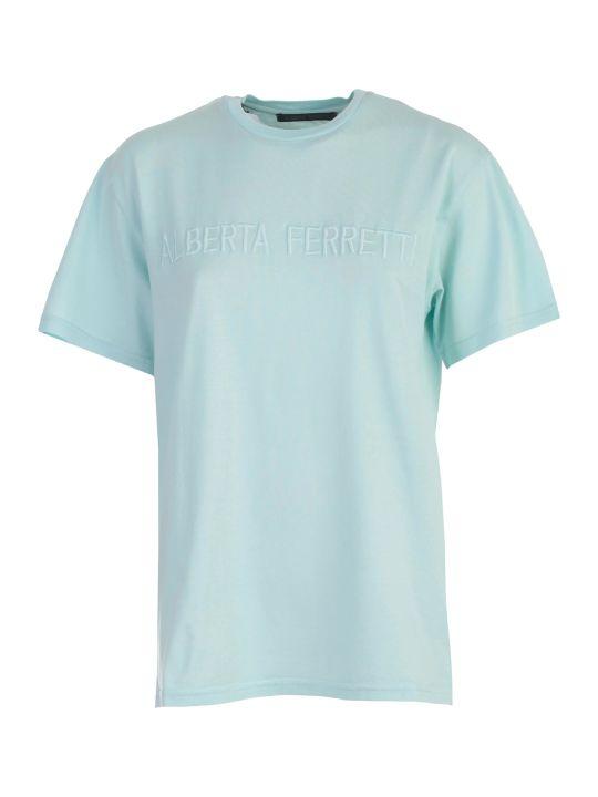 Alberta Ferretti Embroidered Logo T-shirt