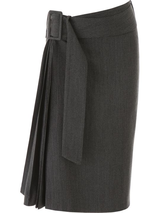 Rokh Belted Pleat Skirt