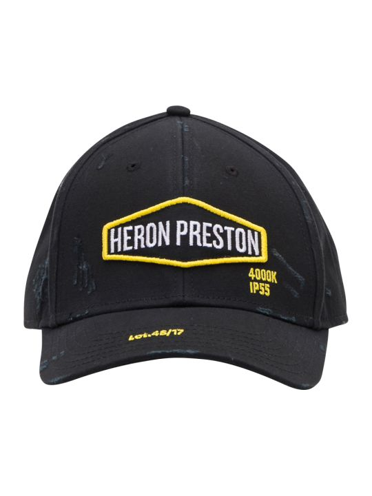 HERON PRESTON Baseball Cap With Logo Patch And Contrasting Embroidery
