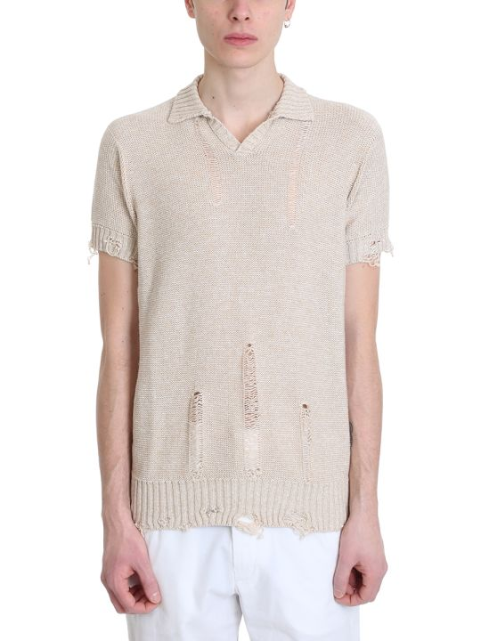 Maison Flaneur Beige Cotton Polo