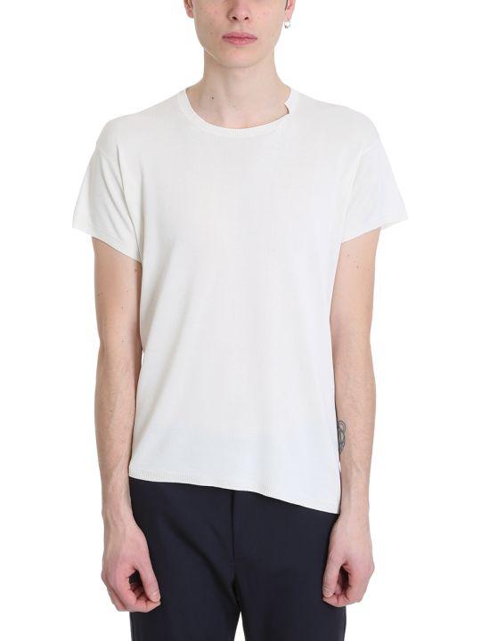 Maison Flaneur White Silk T-shirt