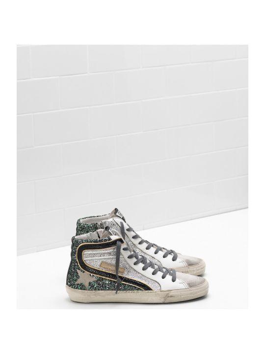 Golden Goose Sneaker Slide Gritter Green