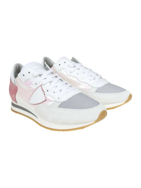 Philippe Model Tropez Sneakers In Suede And Fabric