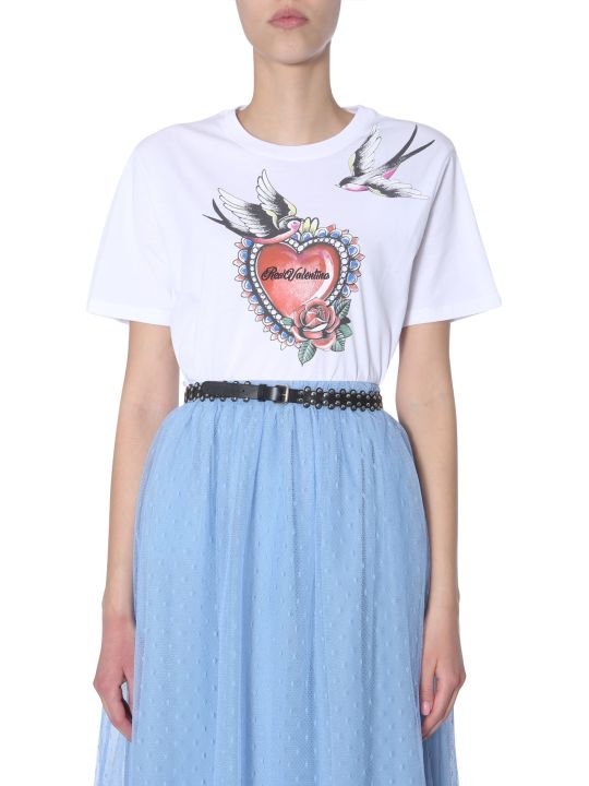 RED Valentino Tattoo Print T-shirt