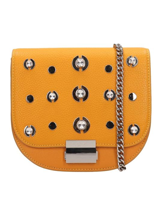 Lola Cruz Guss Yellow Leather Bag