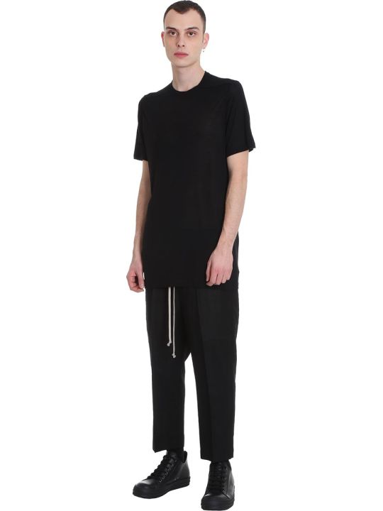 Rick Owens Level Tee T-shirt In Black Cotton