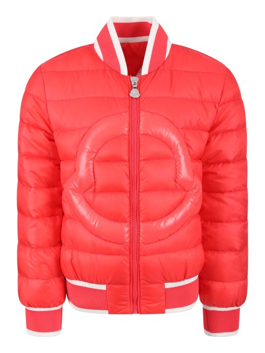 Moncler Coral Girl Jacket With Iconic Logo