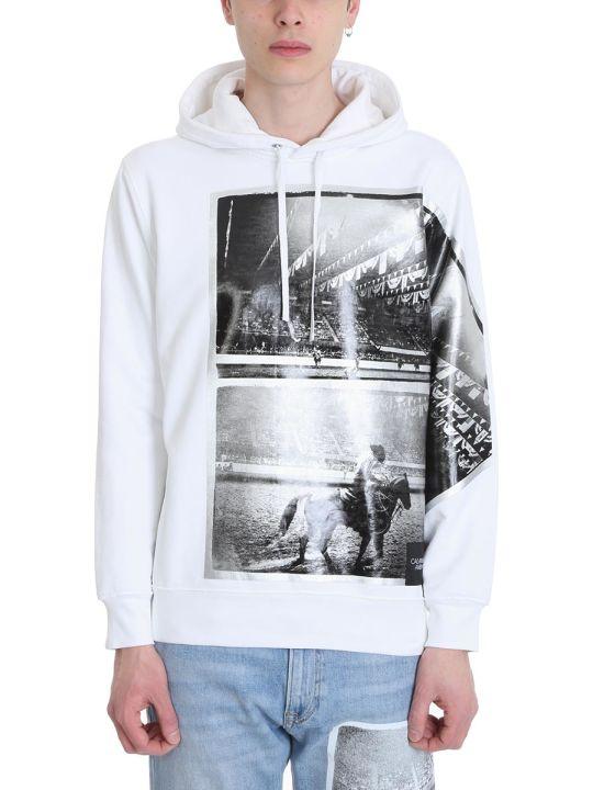 Calvin Klein Rodeo White Cotton Hoodie