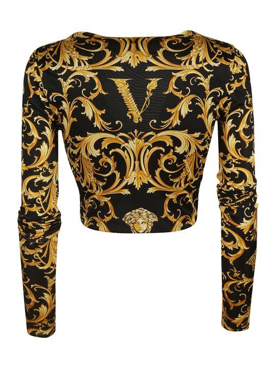 Versace Printed Cropped Top