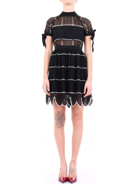 self-portrait Mini Dress Black Lace