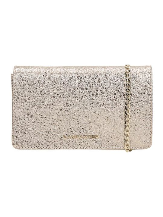 Lancaster Paris Gold Glitter Actual Shiny Bag