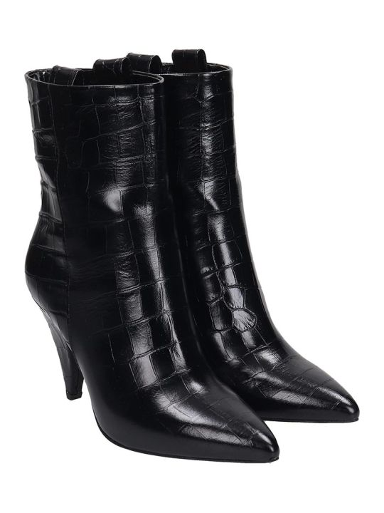 The Seller High Heels Ankle Boots In Black Leather