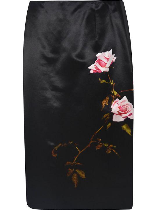 Dries Van Noten Rose Print Skirt