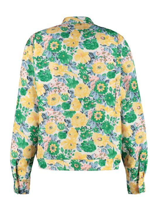 Plan C Floral Print Duchesse Overshirt