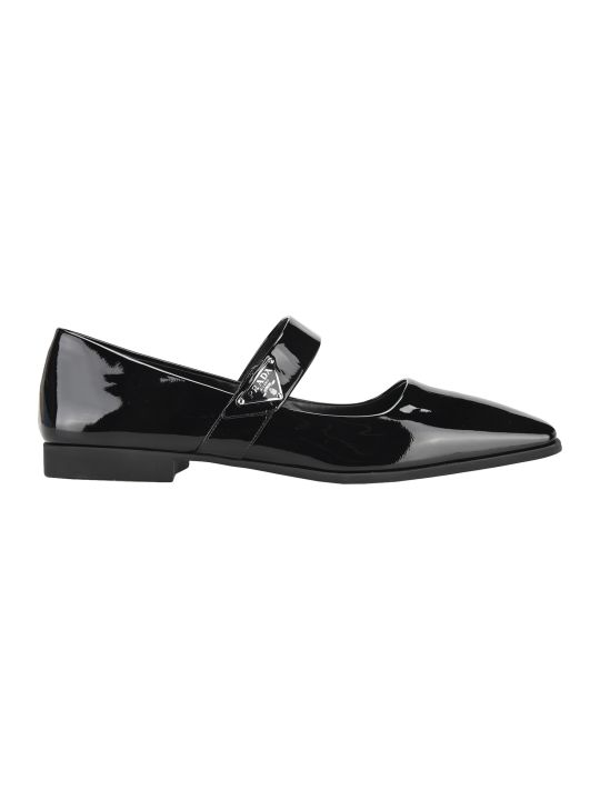 Prada Patent Leather Ballarina Shoes
