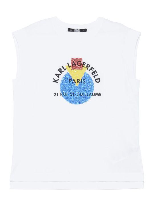 Karl Lagerfeld 'bauhaus Address Logo' Top