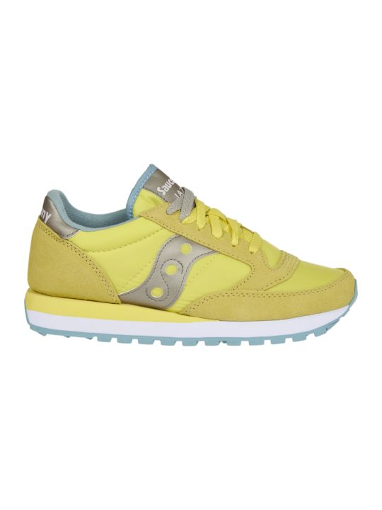 Saucony Grey And Yellow Jazz Original Sneakers