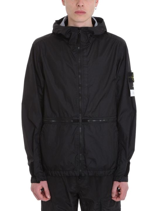 Stone Island Black Nylon Jacket