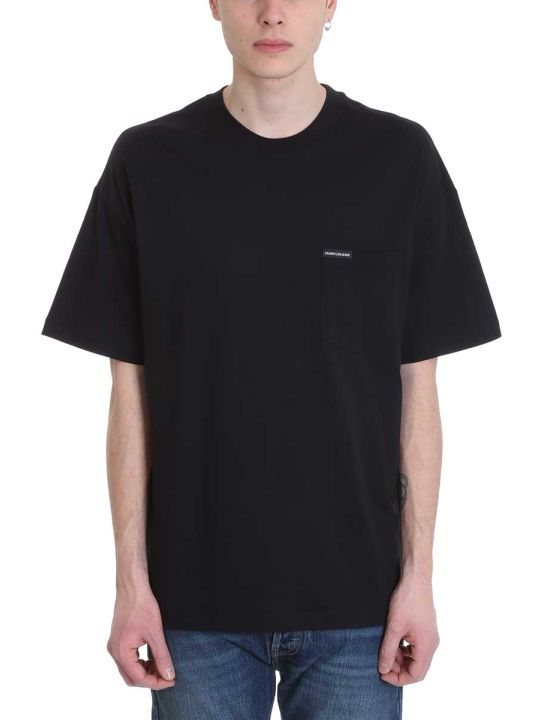 Calvin Klein Jeans Black Cotton T-shirt