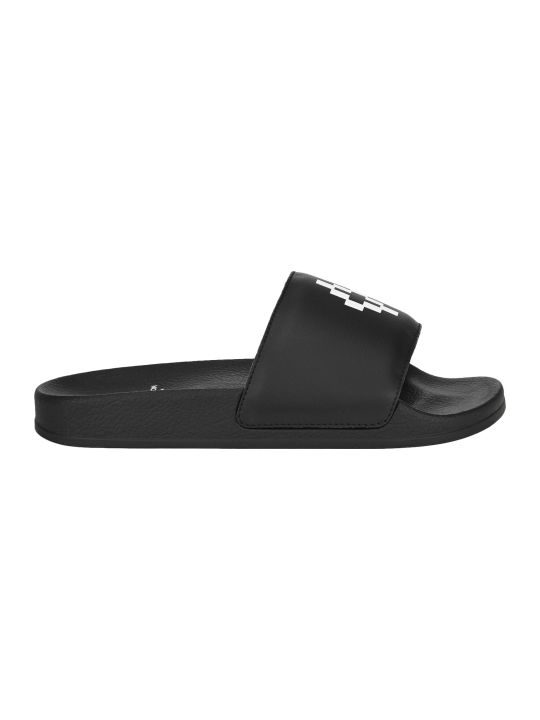 Marcelo Burlon Cross Logo Pool Slides