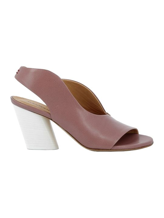 Halmanera Pink Leather Sandals
