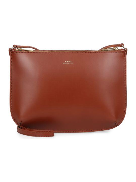 A.P.C. Sarah Leather Crossbody Bag