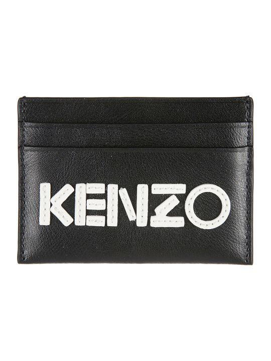 Kenzo Logo Embroidered Card Holder