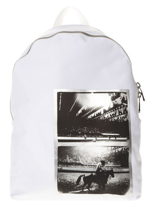 Calvin Klein Andy Warhol White Nylon Backpack