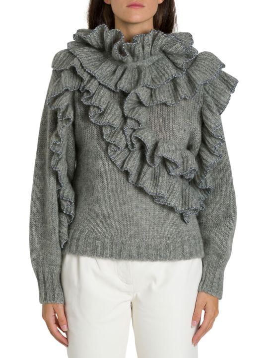 Alberta Ferretti Ruffle Sweater
