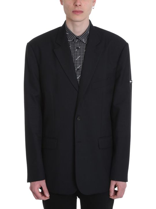 Balenciaga Black Wool Oversize Jacket