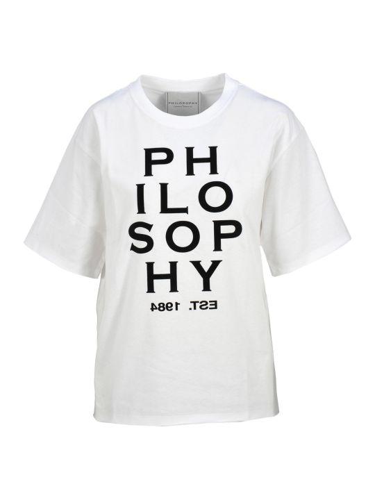 Philosophy di Lorenzo Serafini Philosophy Logo Print T-shirt