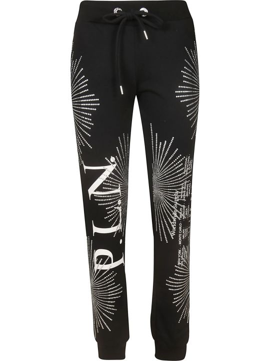 Philipp Plein Crystal Embellished Track Pants