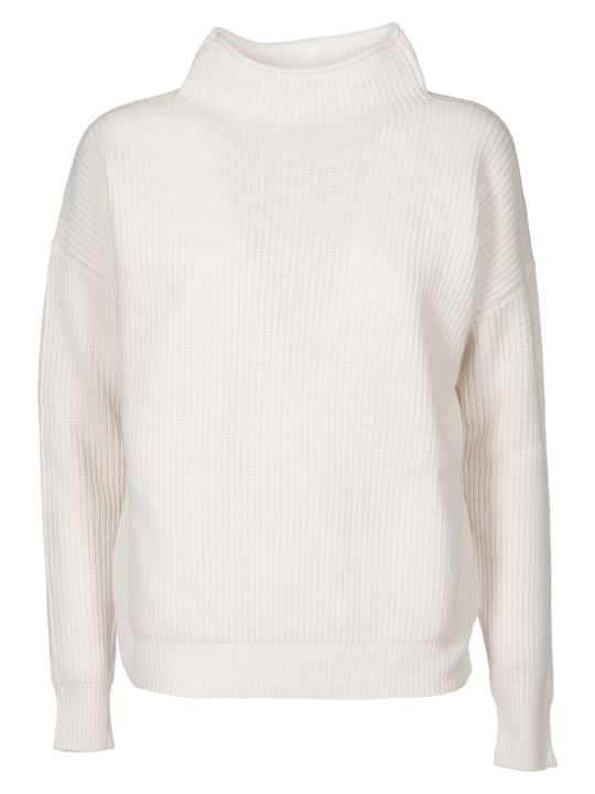 Peserico Turtleneck Pullover In Ivory Color