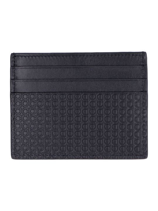 Salvatore Ferragamo Gancini Leather Card Holder
