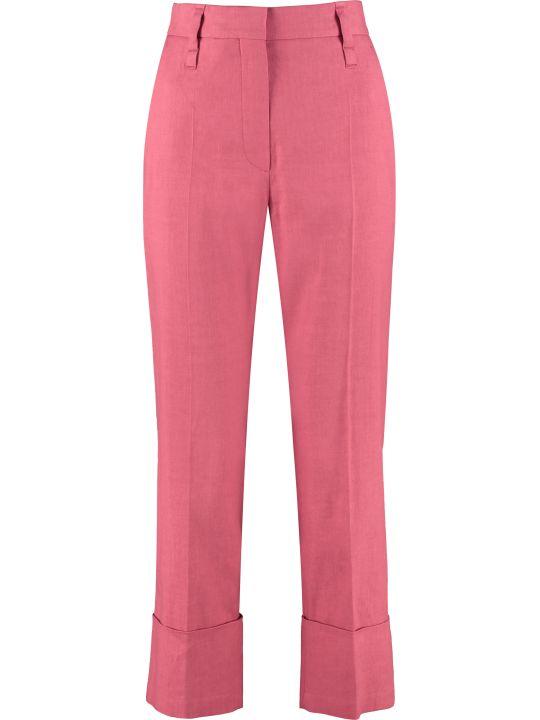 Brunello Cucinelli Cotton-blend Straight-leg Trousers