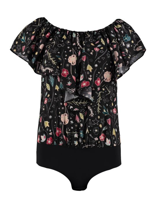 Elisabetta Franchi Celyn B. Bodysuit With Floral Print