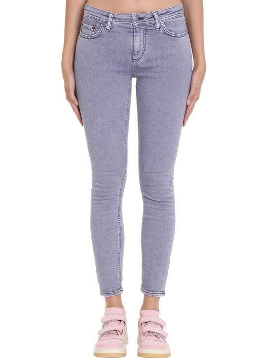 Acne Studios Climb Tinted Jeans In Grey Denim