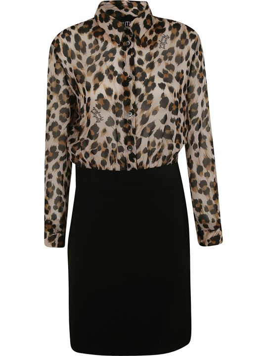 Moschino Leopard Print Shirt Dress