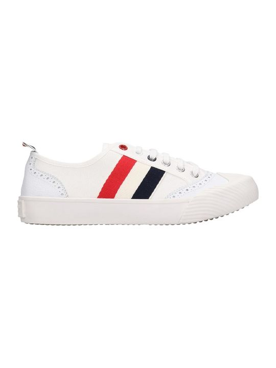 Thom Browne Sneakers In White Canvas