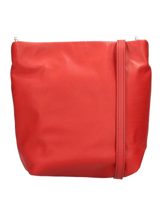 Rick Owens Small Adri Shoulder Bag In Red Leather