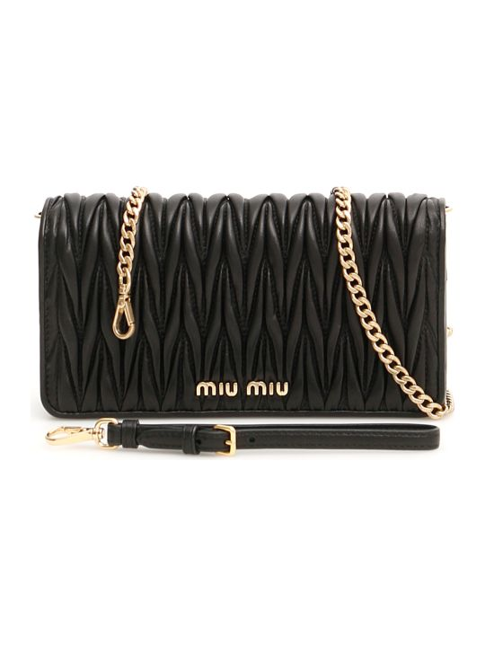 Miu Miu Matelassé Clutch With Chain