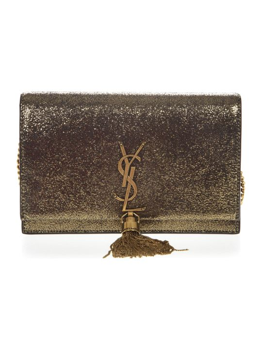 Saint Laurent Bronze Goatskin Kate Wallet