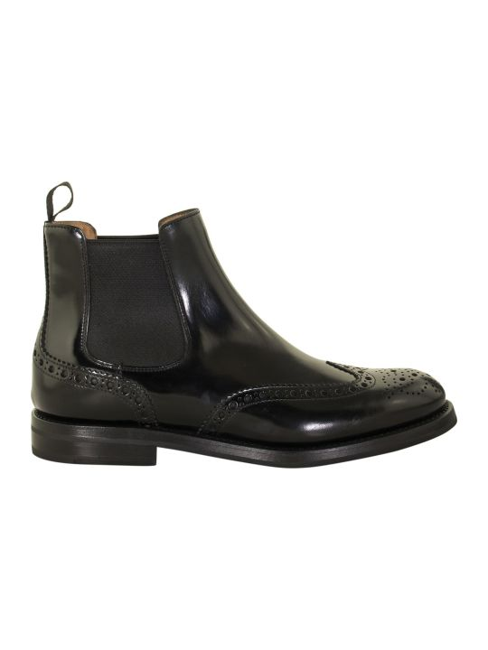 Church's Ketsby Polished Binder Brogue Chelsea Boot Black