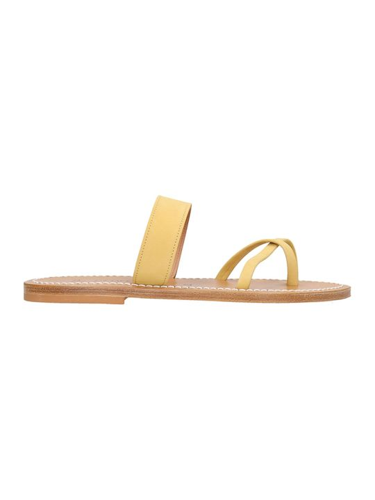 K.Jacques Flats In Yellow Suede