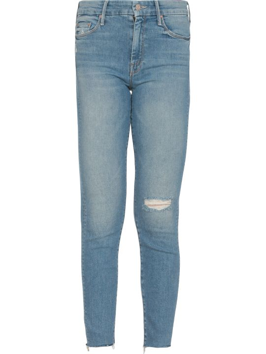 Mother Blackbird Looker Ankle Fray Jeans