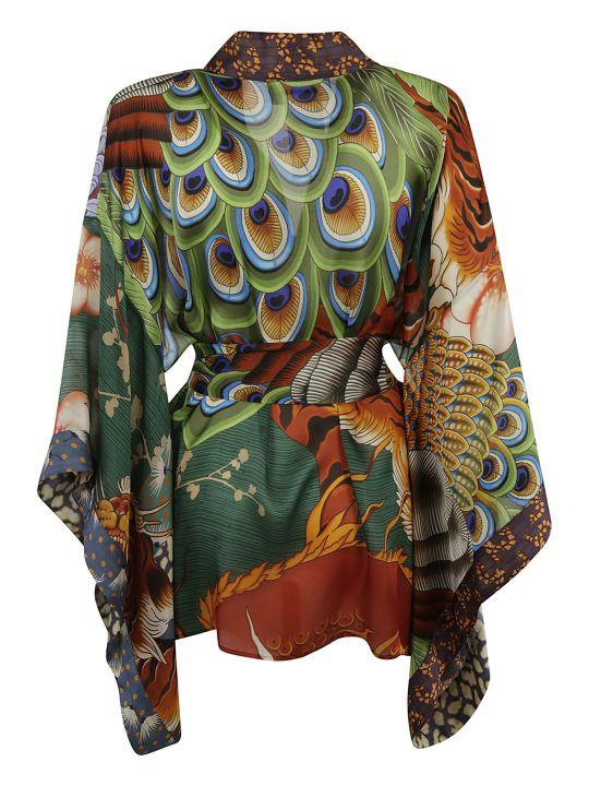 Dsquared2 Patterned Belted Cardi-coat
