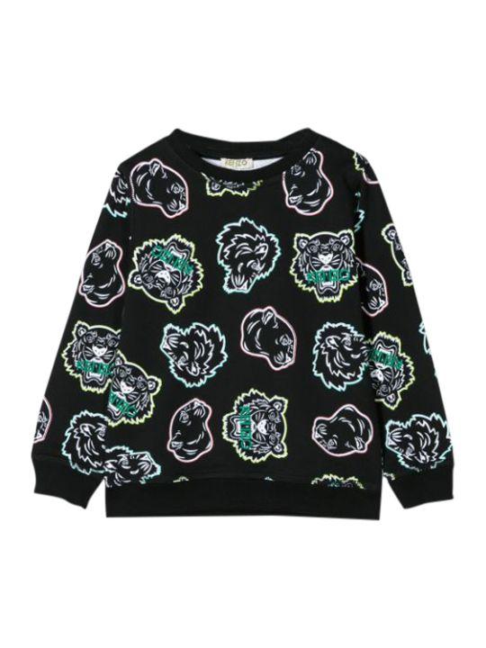 Kenzo Kids Tiger Print Motif Sweatshirt