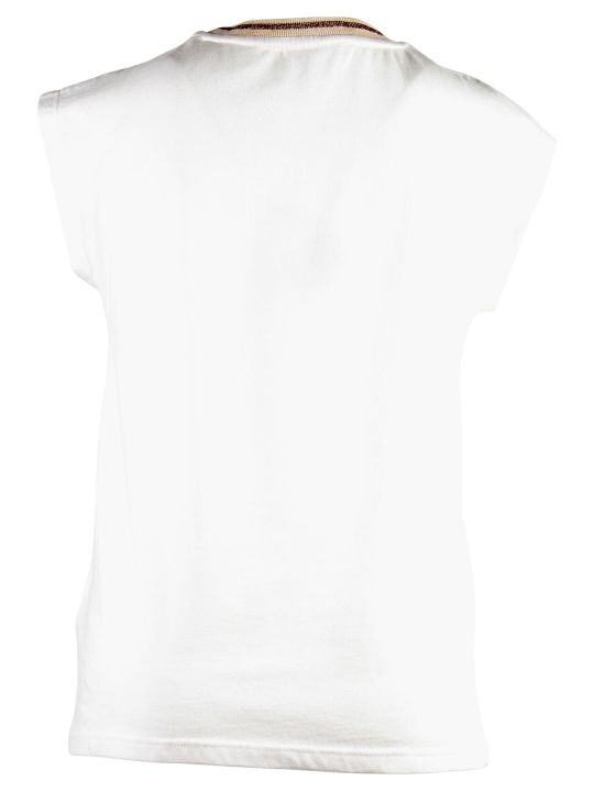 Chloé White Logo Detail Cotton Jersey T-shirt